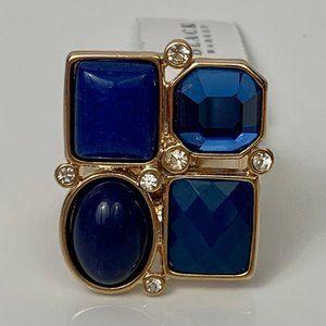 White House Black Market Gold Tone Adjustable Ring